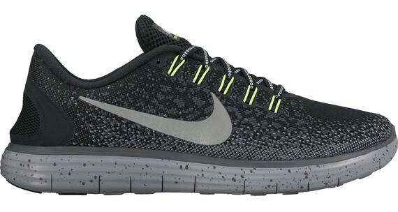 Nike Free Run Distance Shield Laufschuh Women Black/Metallic Silver-Dark Grey-Stealth